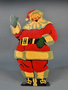 Santa Claus Advertising Figure. I remember seeing it at the old Gibson's and Mark's Department Stores back home.