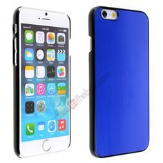 Luxury Brushed Metal Aluminum Hard Back Cover Case for iPhone 6 4.7inch - Dark blue US$5.69