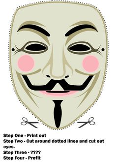 DIY Guy Fawkes Mask