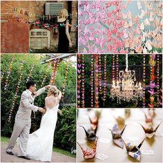 Japanese crane origami theme wedding