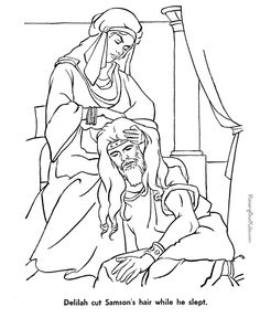 1000 images about bible samson on pinterest fun for for Samson and delilah coloring pages