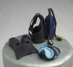 Scuba Diving Cake Toppers Cakesisters cakepins.com