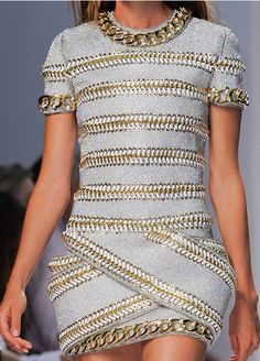 delrussos: mulberry-cookies: Balmain S/S 2014... (I LIKE)