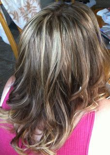 Frosted Hair to Cover Gray | Lowlights On Gray White Hair Design