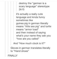 GERMAN IS PRETTY NOT SOME GROWLY WEIRD LANGUAGE- and have you HEARD German accents?! Oh my goodness, they're gorgeous.