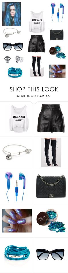 """""""Untitled #159"""" by miss3agle ❤ liked on Polyvore featuring Moschino, Alex and Ani, Pilot, Chanel, Blooming Lotus Jewelry, Victoria Beckham and Disney"""