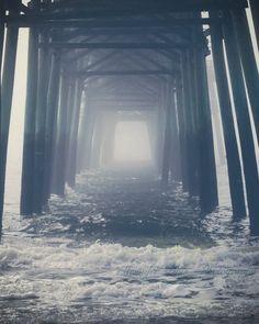 fog + pier + ocean - Oak Island, NC
