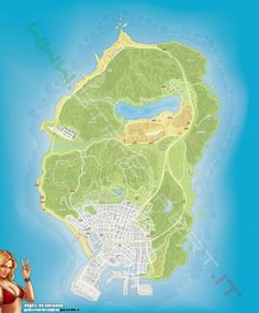 #GTA Grand Theft Auto V Map