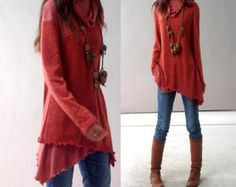 First line of the poem knits tunic dress Q5101 por idea2lifestyle