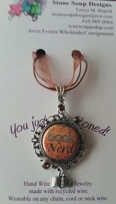 This is the perfect pendant for any die hard reader! Decorated with sparkly Swarovski crystals. Comes on a ribbon necklace but may be worn on any chain, choker or slide. *For Authors and bloggers, please message us for wholesale pricing on multiple pieces.
