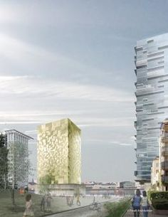 Riverbank Residences and Hotel by Pysall Architekten   #architecture #tower #residence #hotel #modern