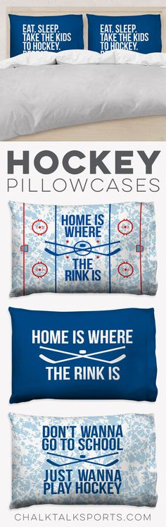 Our #hockeylife pillowcases are perfect for Hockey players and parents -- a great gift anytime of the year and perfect for a hockey-themed room.