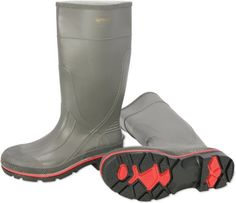 Servus XTP 15 PVC Chemical-Resistant Soft Toe Mens Work Boots Red /& Grey 75108 Black