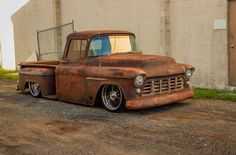 Bagged Trucks, Lowered Trucks, Chevy Stepside, Chevy Pickups, 1956 Chevy Truck, Muscle Truck, Vintage Pickup Trucks, Classic Trucks, Classic Cars