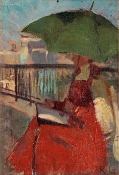 "terminusantequem: ""Karin Stackelberg-Lagerberg (Swedish, 1877-1957), Brita In Paris, 1906. Oil on panel, 18 x 12 cm """