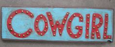 wood cowgirl sign ....for sale on etsy