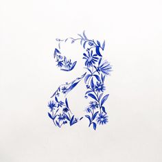 Botanical letter A and flower aster daisy #floralletter #typographyart #handlettering