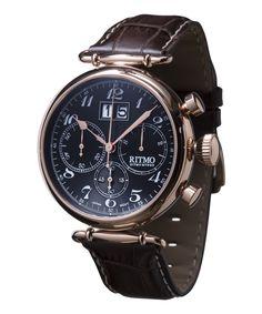 Corinthian Leather-Strap Watch