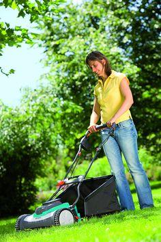Gardena 4025-U 15-Inch 25-Volt 3.2 amp Lithium-Ion Cordless Push Reel Lawn Mower Reel Lawn Mower, Walk Behind Lawn Mower, Outdoor Power Equipment, Amp, Wolf, Cable, German, Electric, Stars