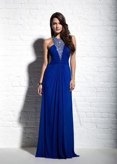 Bridal Party Dresses 2015 Royal Blue Flowing Graceful Crew Beaded Chiffon A Line Floor Length Backless Bridesmaid Dresses Bridesmaid Dresses Northern Ireland From Weddingmall, $51.3| Dhgate.Com