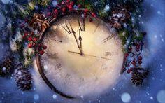 New Year Clock Wallpaper New Year Wallpaper Hd, Clock Wallpaper, Desktop Clock, Wallpaper Desktop, Christmas Clock, Christmas Wishes, Merry Christmas, Magical Christmas, Christmas Scenes