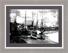 """Boats At Sundown """" framed print by Fine Art By Andrew David. Ships within 3 - 4 business days and arrives ready-to-hang with pre-attached hanging wire, mounting hooks, and nails. Choose from multiple print sizes, papers, mats, and frames."""