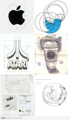 Big brands first logo sketches.