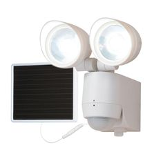 130 Degree Motion Activated Twin Head Solar Powered LED Light
