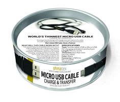 Textile micro USB 2.0 cable: charge or transfer | ohmatexohmatex