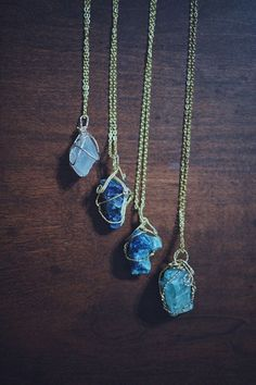 awesome Wire Wrapped Crystal Quartz Chunk Necklaces - Womens Jewelry Bohemian Boho Hippie Tumblr Hipster Gypsy Crystals Jewellery