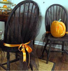 sedia halloween che può essere riadatta a qualsiasi occasione cambiando i colori