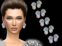 The Sims Resource: Frozen pearl earrings by NataliS • Sims 4 Downloads