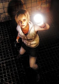 Silent Hill 3 Art & Pictures,  Heather & Flashlight