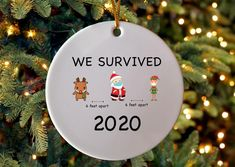 2020 Funny 6 Feet Christmas Quarantined 2020 Christmas | Etsy Christmas Stocking Stuffers, Christmas Tree Ornaments, Christmas Stockings, Christmas Humor, Christmas Crafts, Christmas Ideas, Christmas Boxes, Secert Santa, Friends Tv Show Gifts