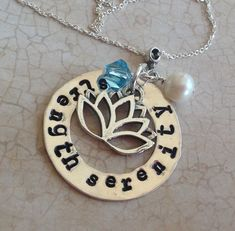 Strength Serenity personalized inspirational by GlitterazziJewels, $37.00