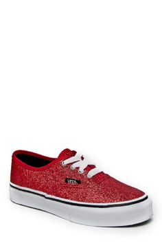 Vans Kids's VANS AUTHENTIC (GLITTER) RED CASUAL « Shoe Adds for your Closet