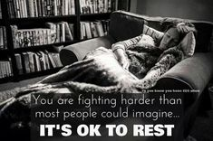 It's ok to rest - living with CRPS quote | CRPS awareness #crps #rsd #crpsawareness