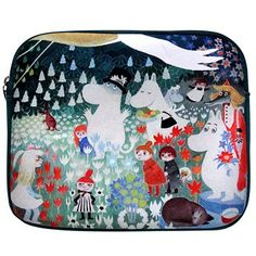 Colourful Ipad Case by Disaster Designs with Dangerous Journey design by Tove Jansson on both sides. Sleeve has a zip closure and keeps your iPad or tablet safe Moomin Shop, Disaster Designs, Tove Jansson, Journey, Cottage In The Woods, Scandinavian Interior Design, Kawaii, Ipad Case, Laptop Case