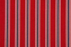 Premier Prints Trey Stripe Printed Cotton Drapery Fabric in Lipstick $7.48 per yard
