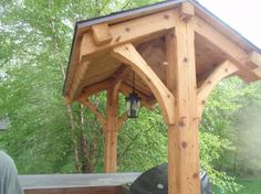 Small Timber Frame Cooking Shelter: