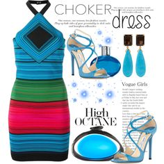 How To Wear High Octane. .. Choker Dress Outfit Idea 2017 - Fashion Trends Ready To Wear For Plus Size, Curvy Women Over 20, 30, 40, 50