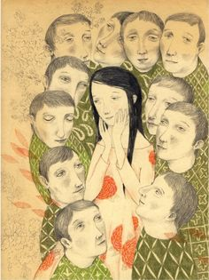 (Pinzellades al món: Poesia en les il·lustracions de Joanna Concejo) hehe how cute. She's actually blushing