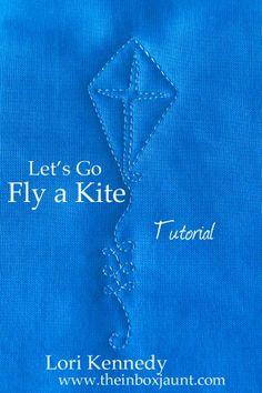 Kite, Free Motion Quilting