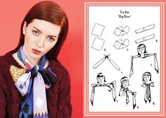 How to tie a big bow knot - designer silk scarves