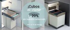 Promoción en la tienda www.casaenorden.cubos de basura para cocina