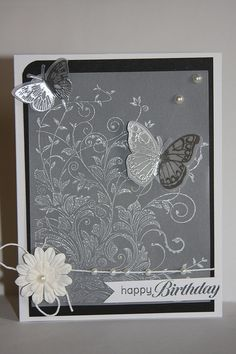 clear embossing on vellum Happy Birthday by Kailash29, via Flickr