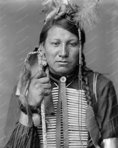 Amos Little A Sioux Indian 8x10 Reprint Of Old Photo