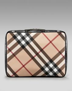 Check Laptop Sleeve by Burberry at Neiman Marcus. ~  I think my new laptop deserves this home!