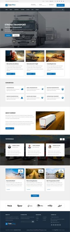 Pifour is clean and modern design 4in1 responsive WordPress theme for awesome cargo, #logistics and transportation company website to live preview & download click on Visit #webdesigners #cargoliners