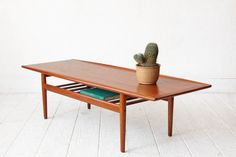 Grete Jalk Danish Teak Two Tier Coffee Table by OtherTimesVintage